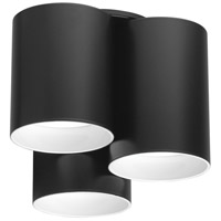 Eglo 203385A Vistal LED 6 inch Matte Black LED Flush Mount Ceiling Light