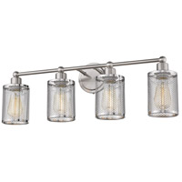 Eglo 203464A Verona 4 Light 29 inch Brushed Nickel Bath Vanity Wall Light