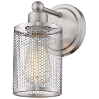 Eglo 203466A Verona 1 Light 7 inch Brushed Nickel Bath Sconce Wall Light