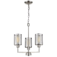Eglo 203468A Verona 3 Light 18 inch Brushed Nickel Chandelier Ceiling Light
