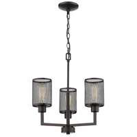 Verona 3 Light 18 inch Oil Rubbed Bronze Chandelier Ceiling Light
