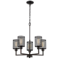 Verona 5 Light 23 inch Oil Rubbed Bronze Chandelier Ceiling Light