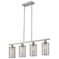 Eglo 203473A Verona 4 Light 36 inch Brushed Nickel Linear Pendant Ceiling Light