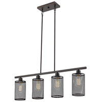 Eglo 203474A Verona 4 Light 36 inch Oil Rubbed Bronze Linear Pendant Ceiling Light