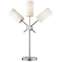Eglo 203477A Willsboro 27 inch 25 watt Polished Nickel Table Lamp Portable Light