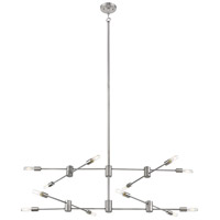 Eglo 203488A Sonora 12 Light 55 inch Polished Nickel Linear Pendant Ceiling Light