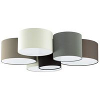 Eglo 203559A Pastore 6 Light 33 inch White and Black and Taupe and Grey and Cappucino Flush Mount Ceiling Light