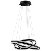 Eglo 203651A Tonarella LED 31 inch Black LED Ring Pendant Ceiling Light