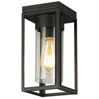 Eglo 203667A Walker Hill 1 Light 5 inch Matte Black Outdoor Flush Mount