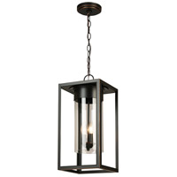 Eglo 203668A Walker Hill 3 Light 9 inch Oil Rubbed Bronze Outdoor Pendant