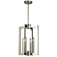 Eglo 203672A Jordan 4 Light 13 inch Satin Nickel Pendant Ceiling Light