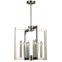 Eglo 203673A Jordan 8 Light 19 inch Satin Nickel Pendant Ceiling Light
