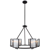 Henessy 6 Light 25 inch Black and Brushed Nickel Chandelier Ceiling Light