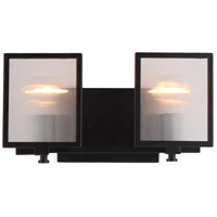 Eglo 203728A Henessy 2 Light 15 inch Black and Brushed Nickel Bath Vanity Wall Light