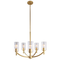 Eglo 203741A Devora 5 Light 24 inch Antique Gold Chandelier Ceiling Light
