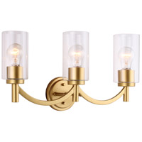 Eglo 203749A Devora 3 Light 22 inch Antique Gold Bath Vanity Wall Light
