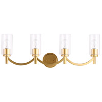 Eglo 203753A Devora 4 Light 31 inch Antique Gold Bath Vanity Wall Light