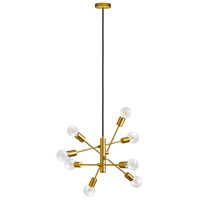 Eglo 203795A Gradoli 8 Light 22 inch Brushed Gold Pendant Ceiling Light