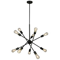 Eglo 203947A Etris Row 10 Light 27 inch Black Pendant Ceiling Light