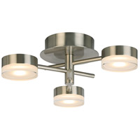 Eglo 203971A Transton LED 15 inch Brushed Nickel Flush Mount Ceiling Light