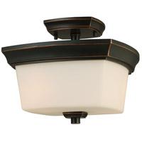 Eglo 203982A Vlacker 2 Light 11 inch Oil Rubbed Bronze Semi Flush Mount Ceiling Light