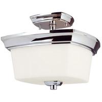 Eglo 203983A Vlacker 2 Light 11 inch Chrome Semi Flush Mount Ceiling Light