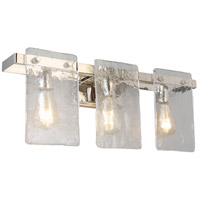 Eglo 203993A Wolter 3 Light 24 inch Polished Nickel Bath Vanity Wall Light