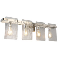Eglo 203994A Wolter 4 Light 32 inch Polished Nickel Bath Vanity Wall Light