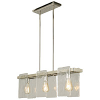 Eglo 203996A Wolter 3 Light 35 inch Polished Nickel Linear Pendant Ceiling Light