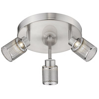 Eglo 204021A Temmar 3 Light 120V Brushed Nickel Track Light Ceiling Light