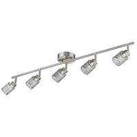 Eglo 204023A Temmar 5 Light 120V Brushed Nickel Track Light Ceiling Light