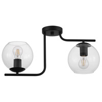 Eglo 204338A Marojales 2 Light 22 inch Black Semi Flush Ceiling Light