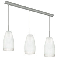 Eglo 20598A Crash 3 Light 28 inch Matte Nickel Kitchen Island Pendant Ceiling Light