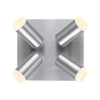 Vivian 4 Light 9 inch Matte Nickel Ceiling Light