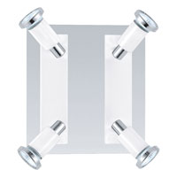 Eglo Lighting Eridan 4 Light Spot Light in Chrome & Shiny White 20932A