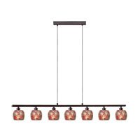 Eglo Sabana 7 Light Island Light in Antique Brown 28862A