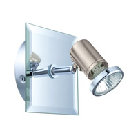 Eglo Tamara 1 Light Wall Track Light in Matte Nickel & Chrome 31265A