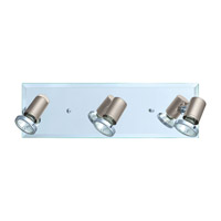 Eglo 31266A Tamara 3 Light 120V Matte Nickel & Chrome Track Light Ceiling Light