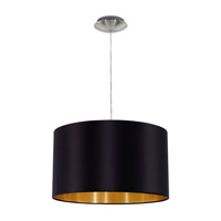 Eglo 31599A Maserlo 1 Light 15 inch Satin Nickel Pendant Ceiling Light