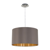 Eglo 31603A Maserlo 1 Light 15 inch Satin Nickel Pendant Ceiling Light
