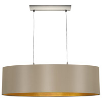 Maserlo 2 Light 9 inch Matte Nickel Pendant Ceiling Light, Cappucino and Gold Shade