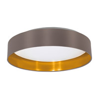 Eglo 31625A Maserlo LED 16 inch Satin Nickel Flush Mount Ceiling Light