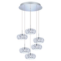 Corliano LED 19 inch Chrome Multi Light Pendant Ceiling Light