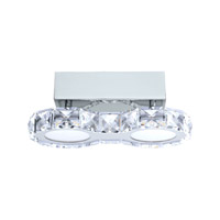 Eglo Corliano LED 2 Light Flush Mount in Chrome with Clear Crystals 39011A