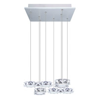 Eglo 39013A Corliano LED 16 inch Chrome Multi Light Pendant Ceiling Light