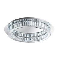 Corliano LED 28 inch Chrome Flush Mount Ceiling Light