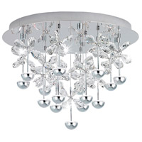 Eglo 39245A Pianopoli LED 20 inch Chrome Flush Mount Ceiling Light