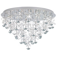 Pianopoli LED 31 inch Chrome Flush Mount Ceiling Light