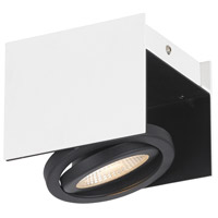 Eglo 39315A Vidago 1 Light 120V Black and White Track Light Ceiling Light