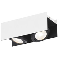 Eglo 39316A Vidago 2 Light 120V Black and White Track Light Ceiling Light
